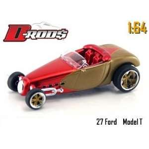 Jada Dub City D Rods Red & Champagne 1927 Ford Model T 1