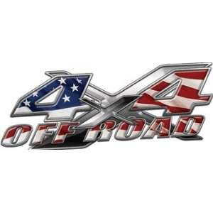 Full Color 4x4 Offroad Truck Decals with American Flag