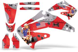 AMR RACING GRAPHIC STICKER KIT HONDA CRF 450 02 04 BOMB
