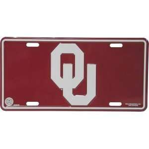 NCAA OKLAHOMA SOONERS METAL License Plate Tag