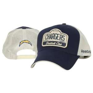 San Diego Chargers Adjustable Baseball Hat   Blue Mesh Back