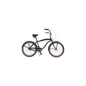 Speed Extended Deluxe Beach Cruiser Bicycle Bike   Menss Black with