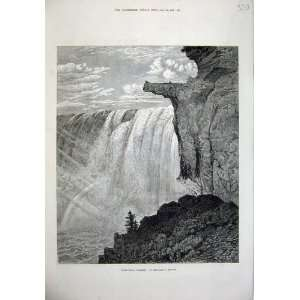 1876 View Table Rock Niagara Falls Canada River Mignot