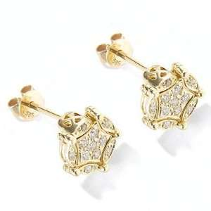 14K White or Yellow Gold Diamond Diversa Earrings Jewelry