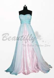 2011 New Pink&Blue Chiffon Evening Party Dresses@