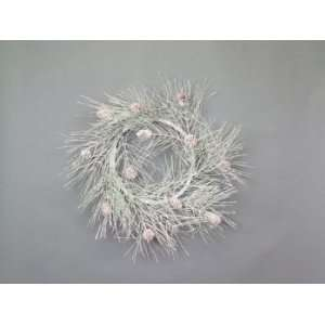 Snow Drift White Iced Pine/Cone 24 Artificial Christmas Wreaths