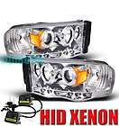 2002 2005 DODGE RAM HALO CLEAR PROJECTOR HEADLIGHTS 04