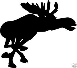 Running Moose Decal ST7A Truck Window Decals Sticker 6