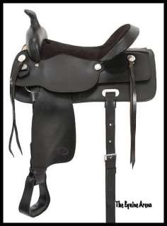 13 YOUTH BLACK LEATHER WESTERN PLEASURE TRAIL SADDLE