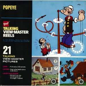 Popeye GAF Talking View Master Reels Toys & Games