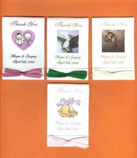 WEDDING Bridal Favors ~ FLOWER SEED PACKETS ~ Beautiful