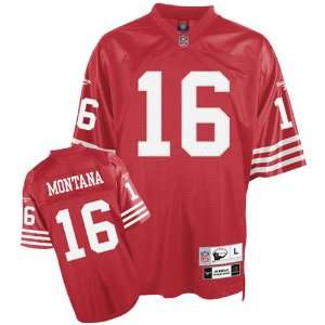 Joe Montana #16 San Francisco 49ers NFL Retired Premier Jersey (Red