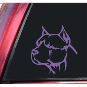 Pit Bull Pitbull Head #2 Vinyl Decal Sticker   Lavender