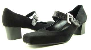 FRANCO SARTO FAVE Black Suede Womens Shoes Pumps 8.5