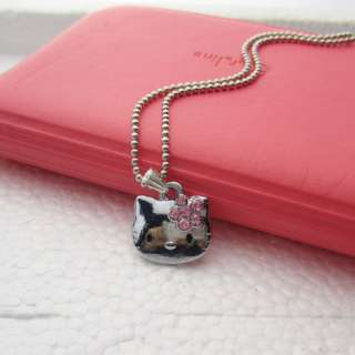 Hit Hellokitty Metal Crystal Rhinestone Necklace Kid Girl Gift Lady