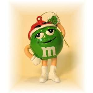 Green M&M Santa Collectible Christmas Ornament Everything