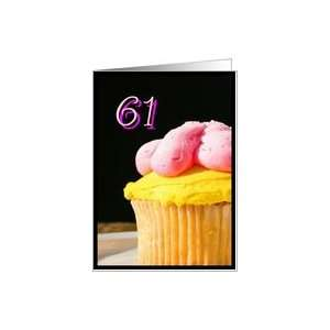 Happy 61st Birthday muffin Card Toys & Games