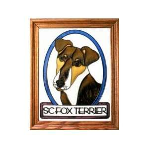Smooth Fox Terrier Stained Glass