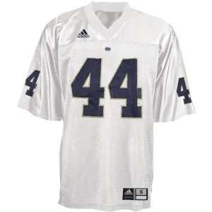 NCAA adidas Notre Dame Fighting Irish #44 White Replica
