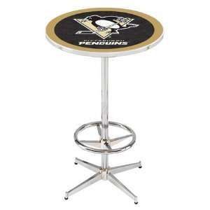 36 Pittsburgh Penguins Counter Height Pub Table   Chrome