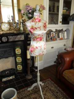 LARGE RETRO ART DECO SHABBY CHIC VINTAGE ROSE TAILORS DUMMY MANNEQUIN