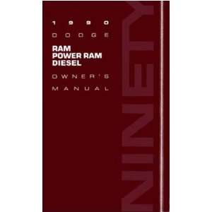 1990 DODGE RAM DIESEL TRUCK Owners Manual User Guide Automotive