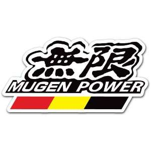Mugen Power Racing Car Bumper Sticker Decal 5x2.5