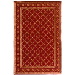 Wilton Collection Hand Hooked Traditional Red Wool Rug 2