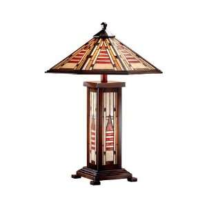 Dale Tiffany TT101163 Woodruff 3 Light Table Lamps in
