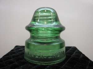 Antique McLaughlin No 20 Green Glass Telephone Pole Insulator