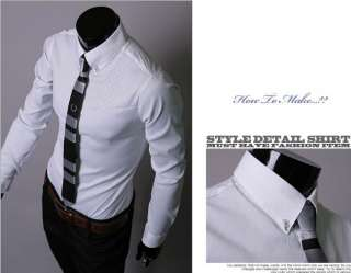 2012 Fashion Mens Casual Slim Shirt Size M/L/XL/XXL/XXXL