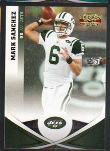2011 Panini Gridiron Gear Football #9 Mark Sanchez New York Jets