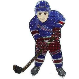 9 NHL New York Rangers Lighted Hockey Player Car Window
