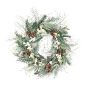 Pack of 2 Winter Solace Pine, Cone, Cedar and Berry Christmas Wreaths