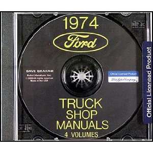1974 Ford Truck Repair Shop Manual CD ROM for Pickup, Bronco, Van, big