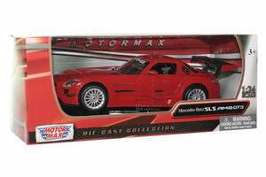 MERCEDES BENZ SLS AMG GT3 1/24 DIE CAST RED NEW