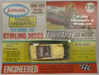 AURORA SLOT CARS 1271 MUSTANG CONVERTIBLE NMOC SLOT CAR