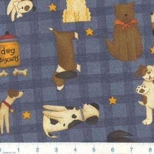 Best Loved Pets Dogs Blue Fabric By The Yard Arts, Crafts & Sewing