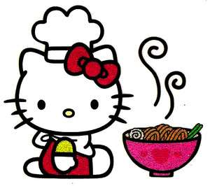 Hello Kitty chef cook noodles Tshirt Iron On Transfer