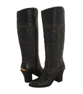 LUCKY BRAND ELENA WOMENS BLACK PULL ON TALL BOOTS $199