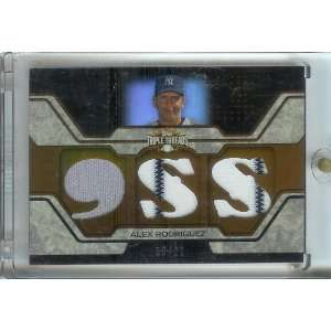 2008 Topps Triple Threads Alex Rodriguez Triple Jersey /27