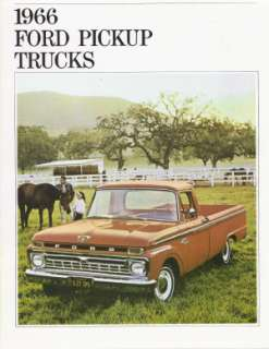 FORD 1966 TRUCK Sales Brochure 66 Pick Up