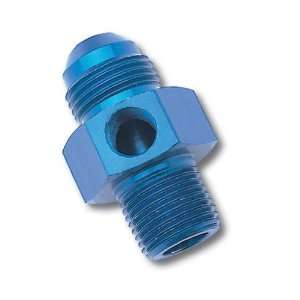 Blue Anodized Aluminum  8AN Flare to Pipe Pressure Adapter Automotive