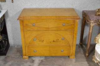 Art Deco Chest Drawers Blonde Walnut Commode
