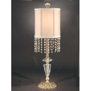 Dale Tiffany Atkinson Antique Brass Buffet Table Lamp