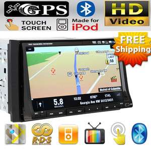 Din Touch In Car Stereo DVD Player GPS Navigation+Sygic MAP