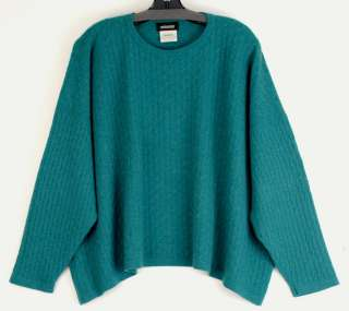Gazebo Green Cashmere Cable Knit Sweater Mint 24 long 68 bust