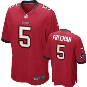 Josh Freeman Jersey Home Red Game Replica #5 Nike Tampa Bay