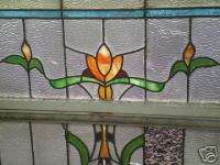 Beautiful art neavou /art deco stain glass window set