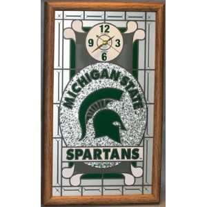 NCAA Michigan State Spartans Glass Wall Clock